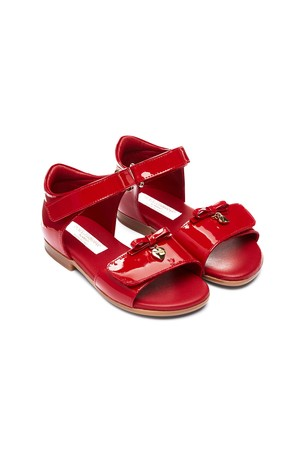 Baby Girls Red Leather Sandals
