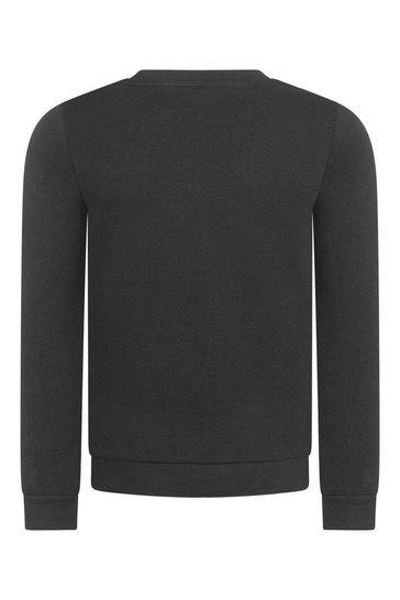 걸스 블랙 로고 스웨터