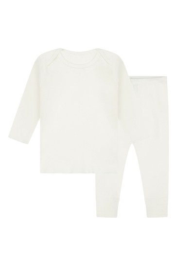 Baby White Cotton Outfit