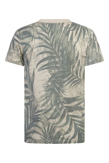 Boys Grey Cotton T-Shirt
