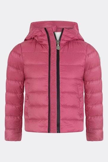 Girls Pink Down Padded Glycine Jacket