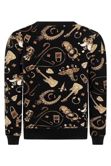 Boys Black Gold Sweater