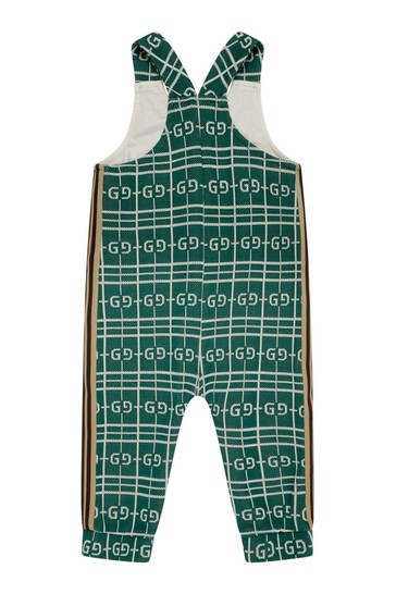 Baby Boys Green Cotton Overall