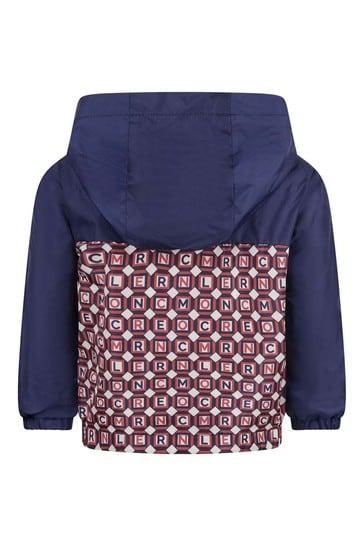 베이비 보이즈 네이비/레드 로고 재킷