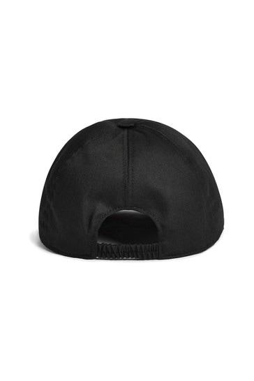 Kids Black Cotton Cap