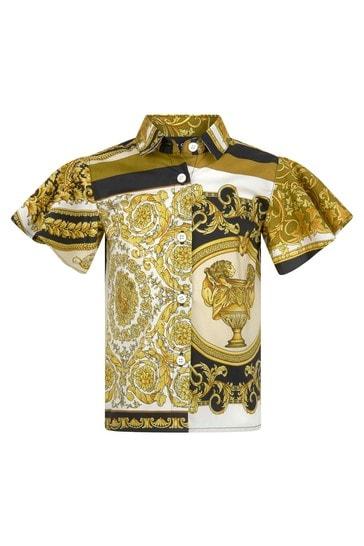 Baby Girls Gold Cotton T-Shirt