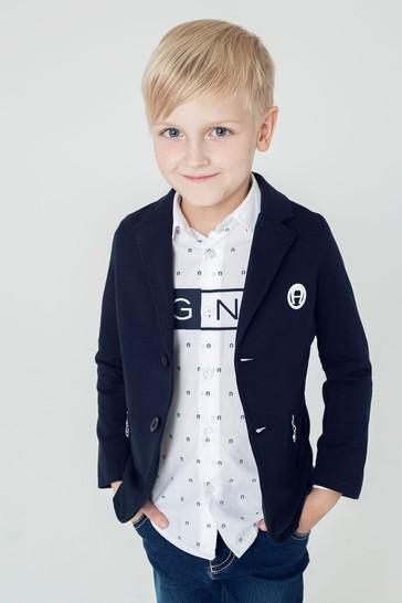 Aigner Boys Navy Cotton Jacket