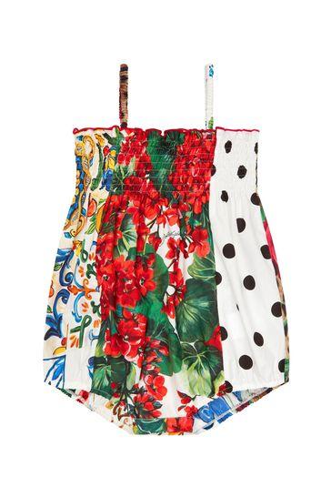 Baby Girls Multicolour Cotton Romper