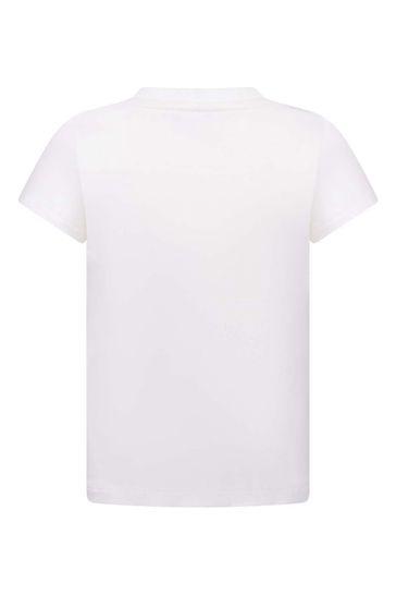 Kids Ivory Cotton Jersey T-Shirt