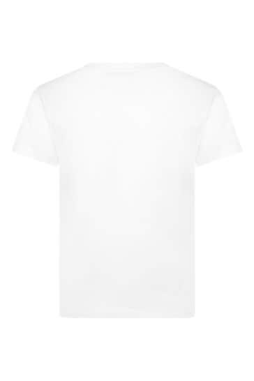 소년 화이트 티셔츠