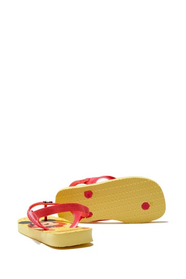 Baby Boys Yellow Mickey Mouse Flip Flops