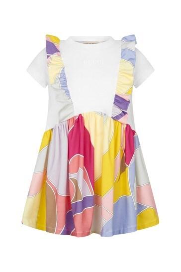 Girls Purple Cotton Dress