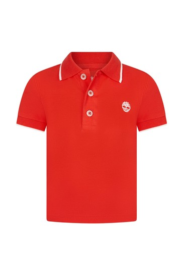 Baby Orange Cotton Polo Shirt