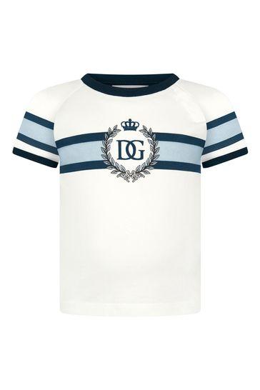 Dolce & Gabbana Baby Boys Cream Cotton T-Shirt