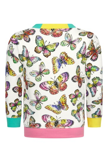 Girls Multicoloured Cotton Sweater