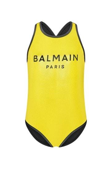 Girls Gold Swimsuit