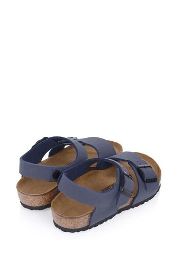 Boys Navy New York Sandals