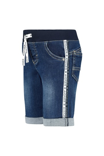 Aigner Baby Boys Blue Cotton Boys Shorts