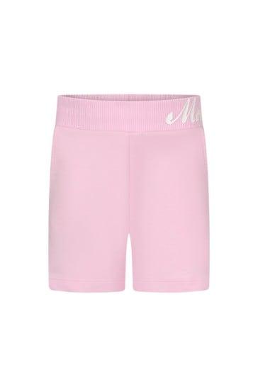 Girls Pink Cotton Shorts