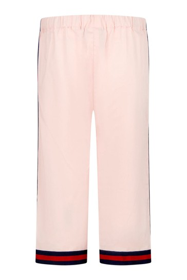 Baby Girls Pink Cotton Trousers