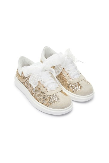 Girls Gold Trainers