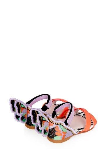 Girls Multicoloured Chiara Embroidery Sandals