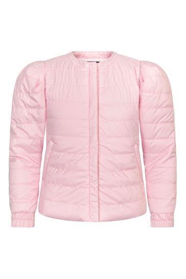 Girls Pink Cotton Jacket
