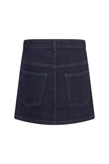 Girls Blue Cotton Skirt