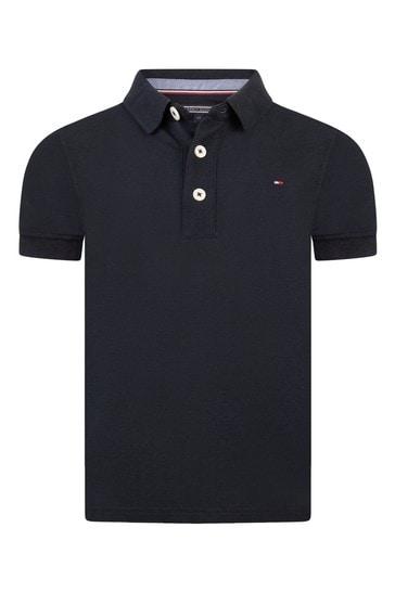 Boys Navy Organic Cotton Polo Top