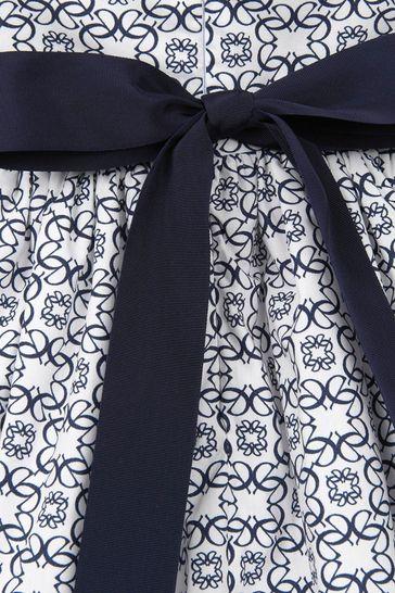 Girls White Cotton Dress