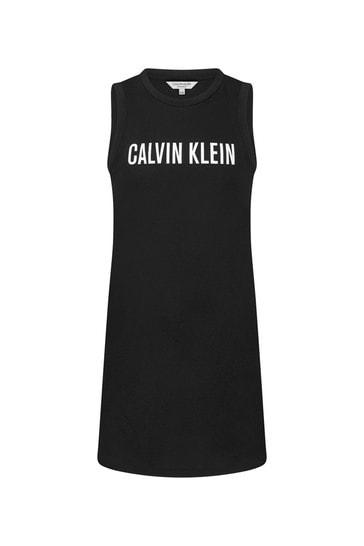 Calvin Klein Underwear Girls Black Cotton Dress