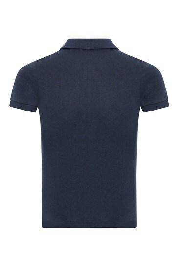 Navy Cotton Polo Shirt