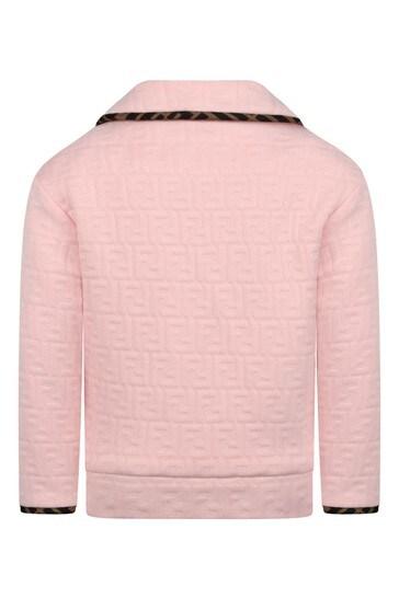 Girls Pink FF Logo Jacket