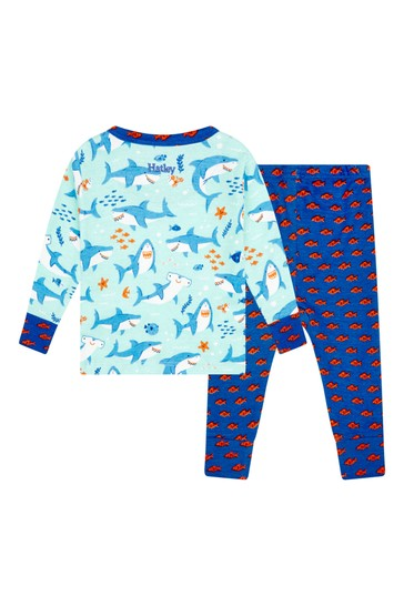 Hatley Blue Shark Party Pyjama Set