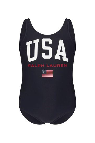 Girls Navy Swimsuit