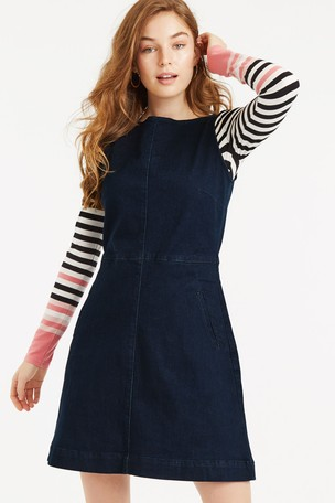 wide selection of designs innovative design shades of Buy Oasis Blue Denim Slash Neck Dress from Next Ireland