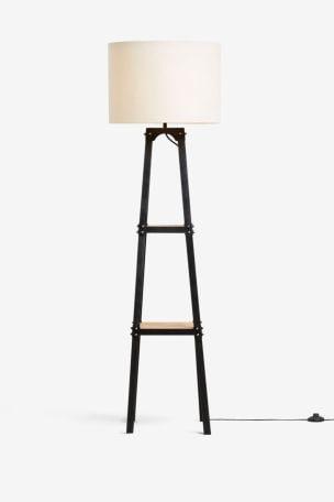 Harrison Shelved Floor Lamp From, Corner Floor Lamp With Shelves Uk