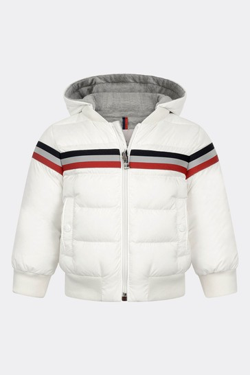 Baby Boys Ivory Down Padded Perd Jacket