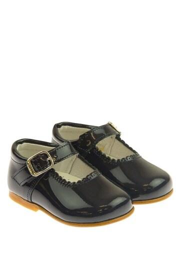 소녀 해군 특허 가리비 가장자리 메리 제인 신발