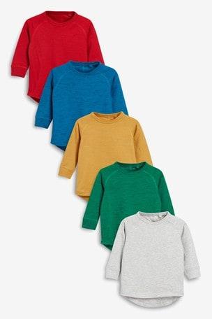 Bright 5 Pack Long Sleeve T-Shirts (3mths-7yrs)