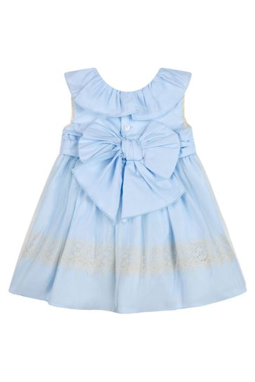 Baby Girls Blue Cotton Outfit