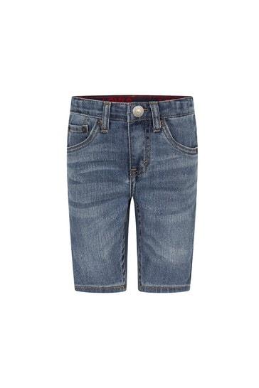 Boys Blue Cotton Blend Shorts