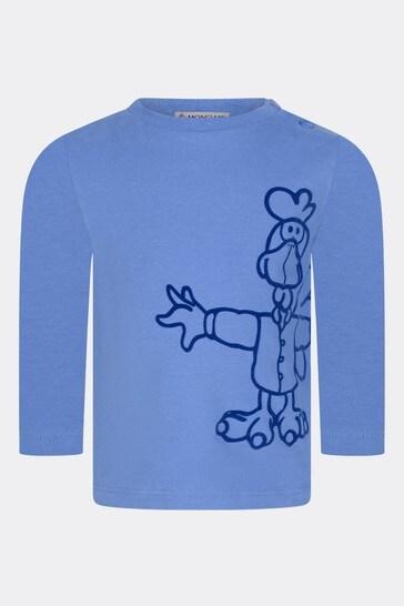 Baby Boys Blue Cotton T-Shirt