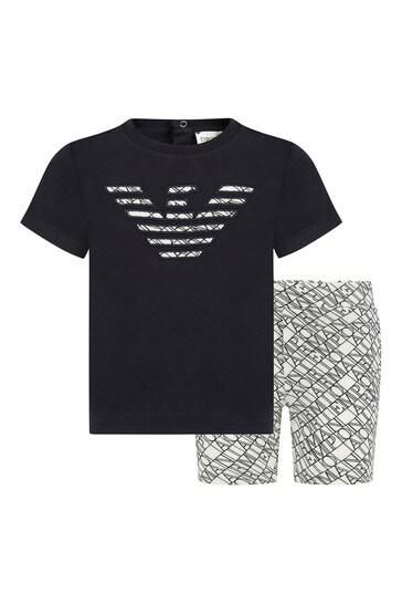 Baby White T-Shirt And Shorts Set
