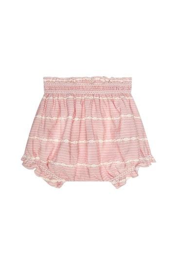 아기 소녀 핑크 블루머