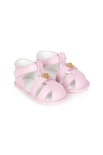 Baby Girls Pink Leather Sandals