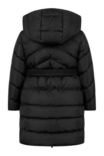 Girls Black Down Padded Agot Coat