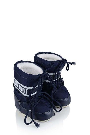 Baby Navy Mini Nylon Snow Boots