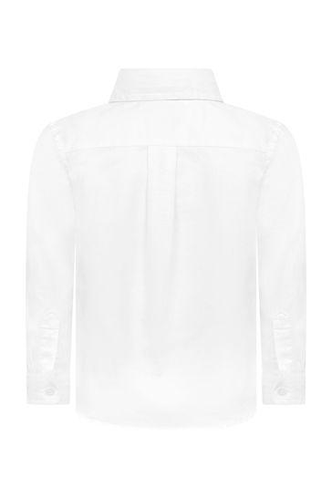 베이비 보이즈 화이트 코튼 셔츠