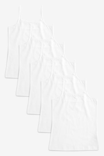 White Cami Five Pack (1.5-16yrs)
